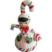Geo Lefton Christmas Candy Cane Girl Ornament and Bell
