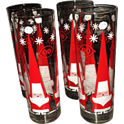 Set of 4 Dairy Queen Santa Glasses