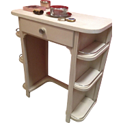 Great Little Art Deco Vanity (or desk) Small Space High Function!