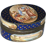 Antique 18th century French Gilt Silver and Enamel Snuff Box