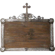 Large Antique Indo-Portuguese Silver Mounted Frame
