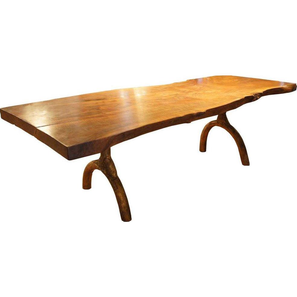 American Hudson Furniture Live Edge Solid Walnut