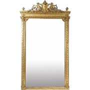 Large French Baroque Revival Gilt Mirror
