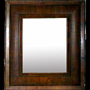 Rare French Baroque Figured Cherrywood Mirror