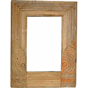 Indian Teak Framed Mirror