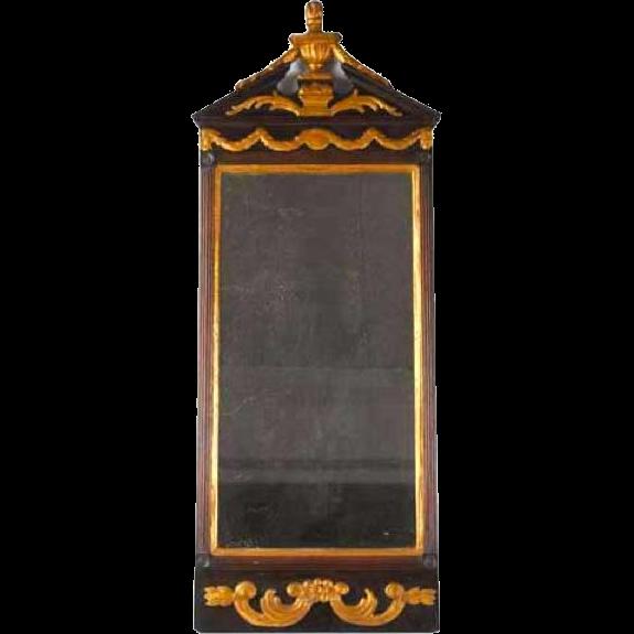 Danish Neoclassical Parcel Gilt Pier Mirror