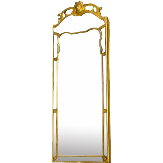 French Regence Period Gilt and Etched Pier Mirror