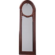 Danish Christian VIII Mahogany Arched Pier Mirror