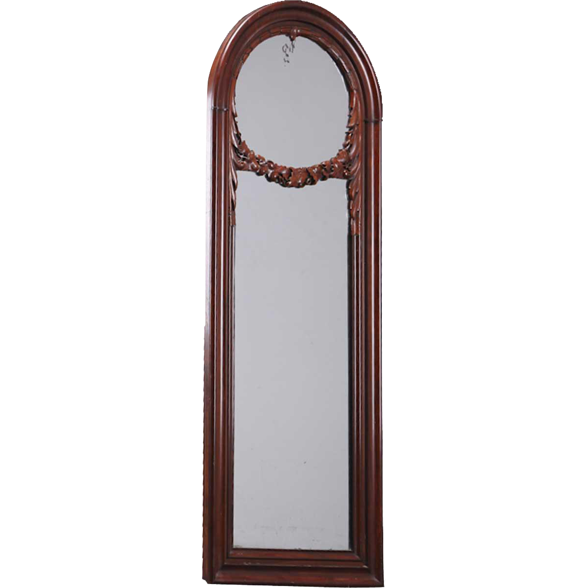 Danish Christian VIII Mahogany Arched Pier Mirror