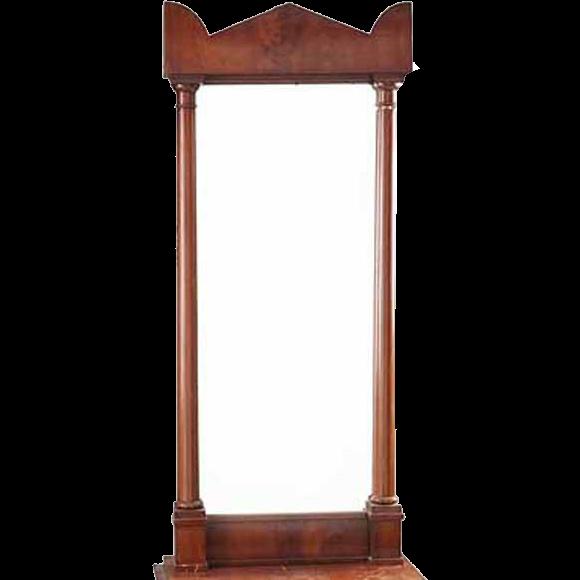 Swedish Karl Johan Style Mahogany Pier Mirror