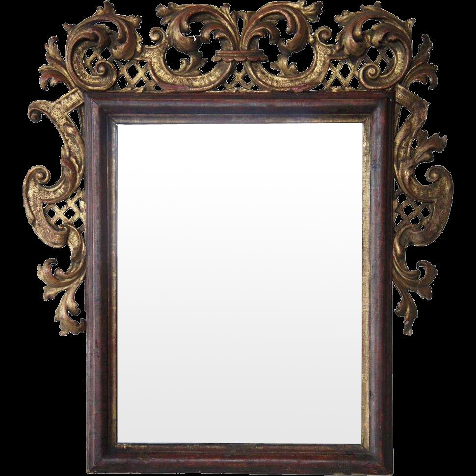 Swedish/German Baroque Gilt Pine Mirror
