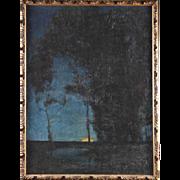 RICHARD KAISER Oil on Canvas Painting, Sunset