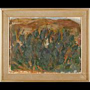 LAMBERT WERNER Oil on Board Painting, Spanish Cacti