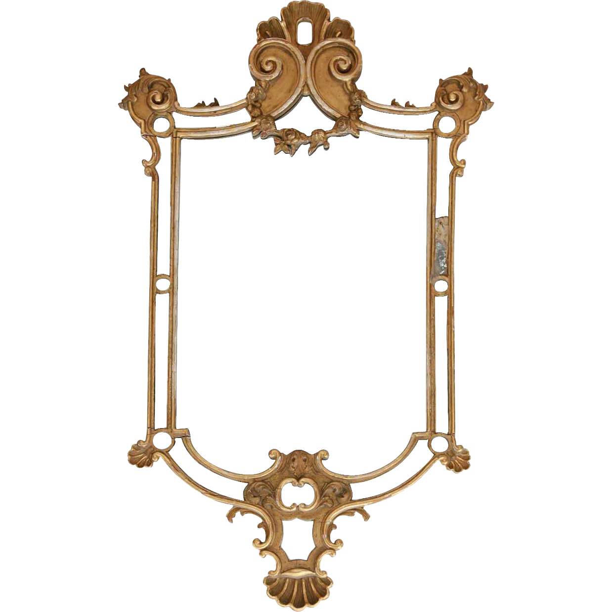 French Rococo Revival Gilt Pine Mirror