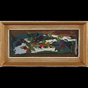 JEAN DE GAVARDIE Oil on Panel Painting, Autumn Colors