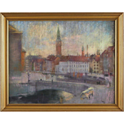 EDWARD ANDERS SALTOFT Pastel, Scenes from Copenhagen