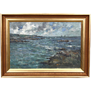 R.A. BROWNLIE R.S.W Oil on Canvas Painting, Coastal Landscape - Red Tag Sale Item