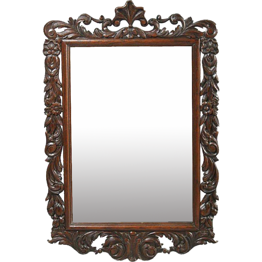 Dutch Carved Oak Mirror