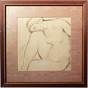 ALBERT STERNER Engraving on Paper, Reclining Nude Study