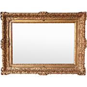 French Gilt Gesso Overmantel Mirror