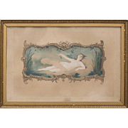 CHARLES JOSUAH CHAPLIN Hand Colored Engraving, Nude in Repose