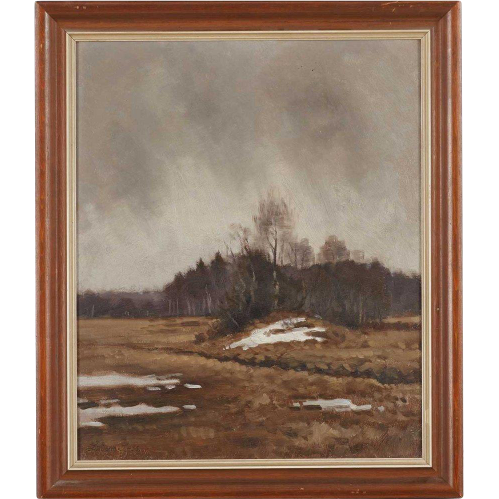 LINDORM LILJEFORS Oil on Canvas Painting, Spring Thaw