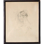 After Sir Thomas Lawrence Stipple Etching, Portrait of Miss Mary Bloxam