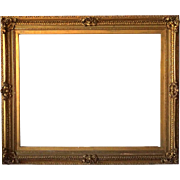Very Large American Victorian Giltwood and Gesso Frame