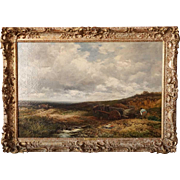 EDMUND MORISON WIMPERIS Oil on Canvas Painting, Carting Gravel at Kingwood