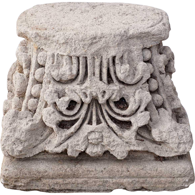 Limestone Architectural Pillar Top / Column Capital