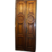 Grand Argentine Louis XIV Style Solid Mahogany Double Door