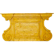 French Baroque Style Hand Carved Pine Pediment