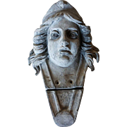 French Cast Lead Liberty Mask Architectural Element c. 1790