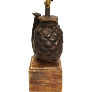 Indian Teak Architectural Fragment as a Table Lamp