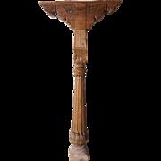 Indian Teak Architectural Pillar Column with Brackets