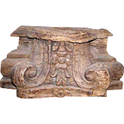 Anglo Indian Teak Architectural Pilaster Capital