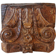 Anglo Indian Teak Pilaster Capital