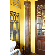 Pair of Anglo Indian Teak Architectural Pilasters