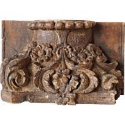 Teak Architectural Pilaster Column Capital