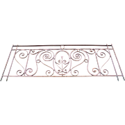 French Belle Epoque Wrought Iron Balcony Railing