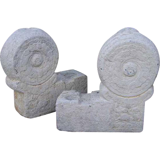 Pair of Chinese Qinhuangdao City Stone Architectural Bases