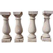 Set of Four American Limestone Architectural Balusters