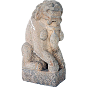 Chinese Shanxi Province Stone Foo Dog Statue
