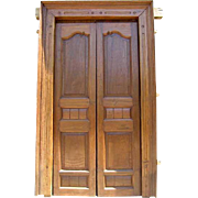 Large Indian Solid Teak Double Door with Frame