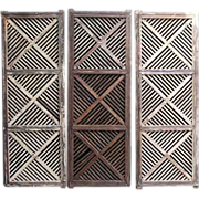 Set of Four Indian Teak Fretwork Panels 1880 English Home