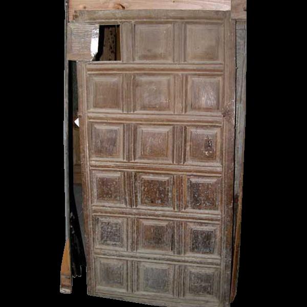 Early Spanish Walnut Paneled Single Door