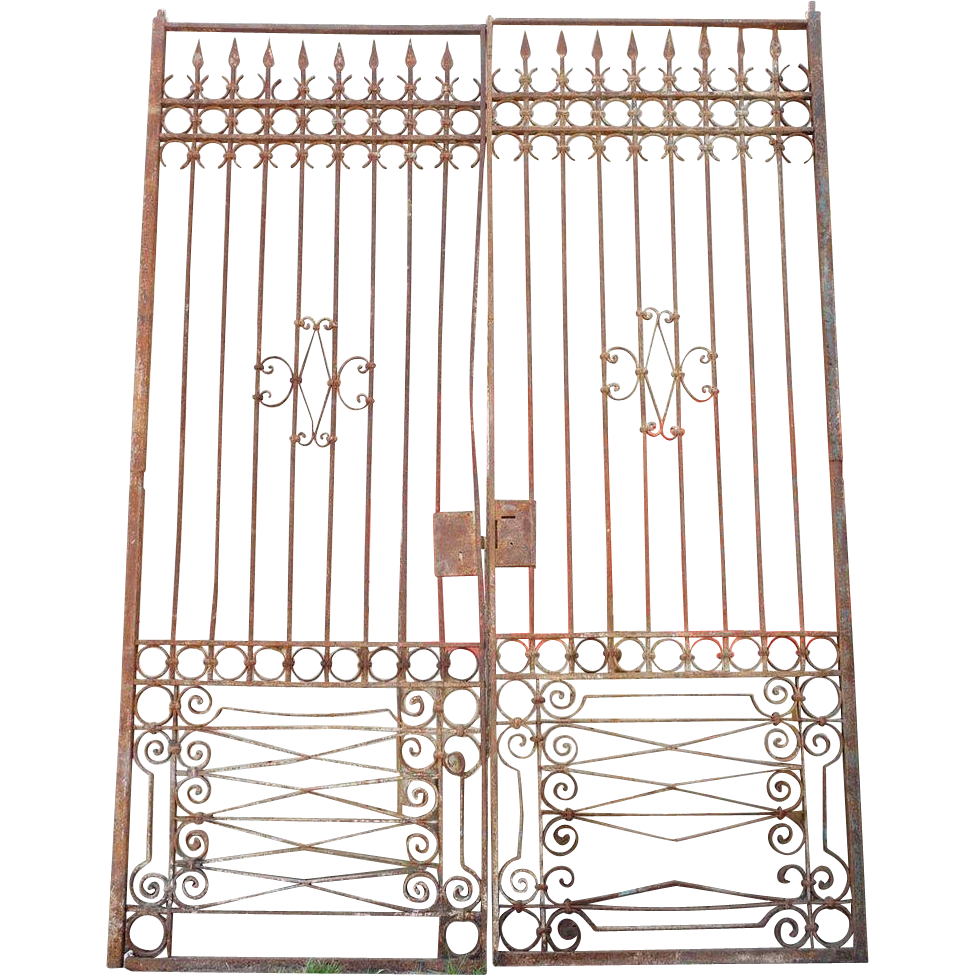 Spanish Hand Forged Iron Double Door Gate