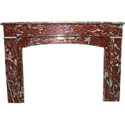 French Louis Philippe Rouge Royale Marble Fireplace Surround