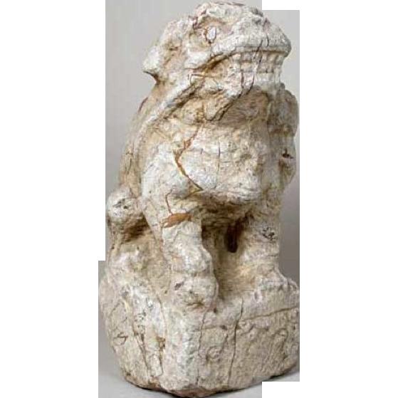 1700's Chinese Shanxi Province Stone Foo Dog