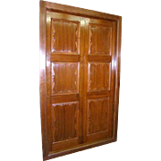 Large English Teak Interior Double Door with Frame